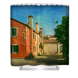 Shower Curtain featuring the photograph Malamocco Corner No1 by Anne Kotan