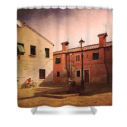 Shower Curtain featuring the photograph Malamocco Corner No2 by Anne Kotan