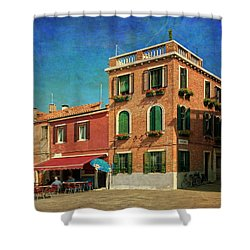 Shower Curtain featuring the photograph Malamocco Corner No3 by Anne Kotan