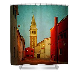 Shower Curtain featuring the photograph Malamocco Dusk No1 by Anne Kotan