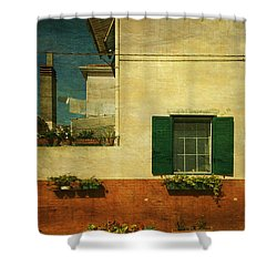 Malamocco Facade No1 Shower Curtain by Anne Kotan
