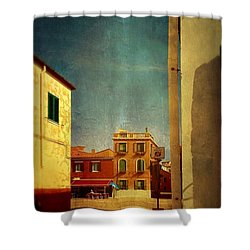 Malamocco Glimpse No1 Shower Curtain by Anne Kotan