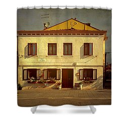 Malamocco House No1 Shower Curtain by Anne Kotan