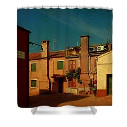 Shower Curtain featuring the photograph Malamocco House No2 by Anne Kotan