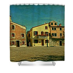Shower Curtain featuring the photograph Malamocco Main Street No1 by Anne Kotan