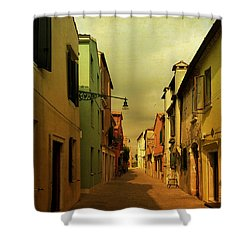 Malamocco Perspective No1 Shower Curtain by Anne Kotan