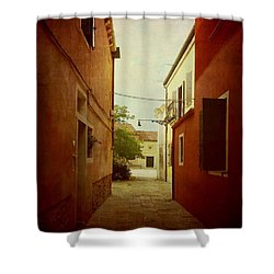 Shower Curtain featuring the photograph Malamocco Perspective No2 by Anne Kotan