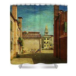 Malamocco Perspective No3 Shower Curtain by Anne Kotan