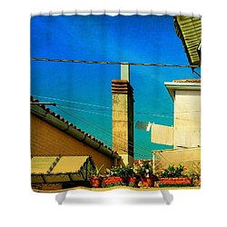 Shower Curtain featuring the photograph Malamoccoskyline No1 by Anne Kotan