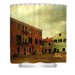 Shower Curtain featuring the photograph Malamocco Piazza No1 by Anne Kotan