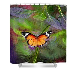 Malay Lacewing  What A Great Place Shower Curtain by James Steele