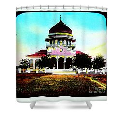 Malay Mosque Singapore Circa 1910 Shower Curtain by Peter Gumaer Ogden