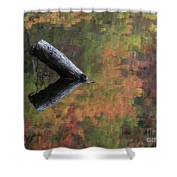 Malbourn Pond Abstract Shower Curtain