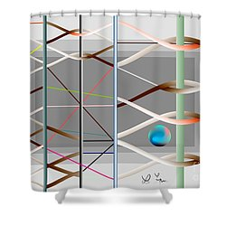 Shower Curtain featuring the digital art Male And Female Logic by Leo Symon