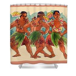 Male Dancers Of Lifuka, Tonga Shower Curtain