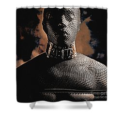 Male Masked Shower Curtain