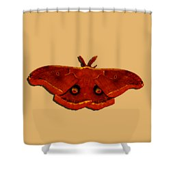 Shower Curtain featuring the photograph Male Moth Red .png by Al Powell Photography USA