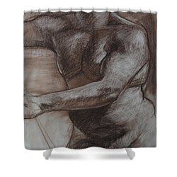Male Torso Shower Curtain by Harry Robertson