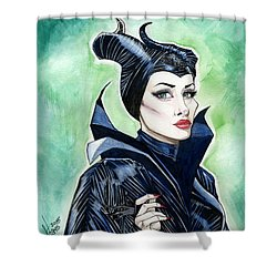 Maleficent Shower Curtain by Jimmy Adams