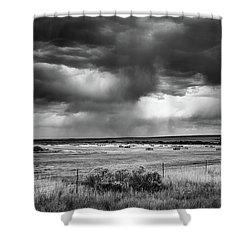 Malheur Storms Clouds Shower Curtain