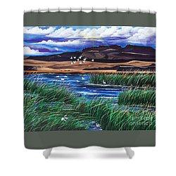 Malhuer Bird Refuge Shower Curtain