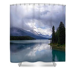 Maligne Lake Shower Curtain by Heather Vopni