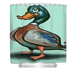Mallard Duck Shower Curtain by Kevin Middleton