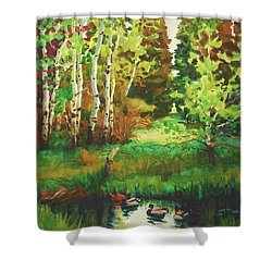 Mallard Grove Shower Curtain