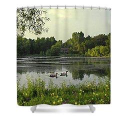Mallards Lake II Shower Curtain