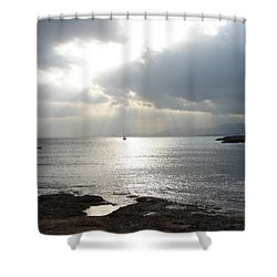 Mallorca Shower Curtain by Ana Maria Edulescu