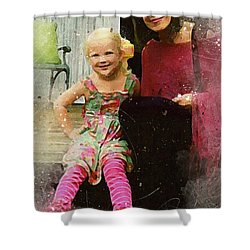 Mally And Mimi Shower Curtain