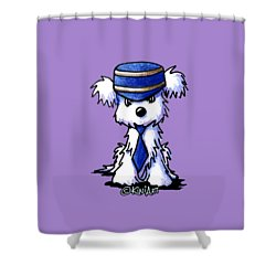 Maltese Conductor Shower Curtain