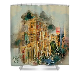 Maltese Street Shower Curtain