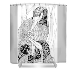 Mama Heron Shower Curtain