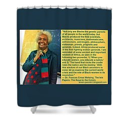 Mama Frances Cress Welsing Shower Curtain
