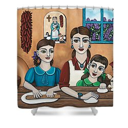 Mamacitas Tortillas Shower Curtain