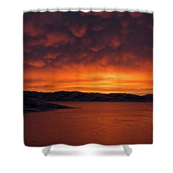 Mamantus Clouds Over Wildhorse Reservoir, Nv Shower Curtain