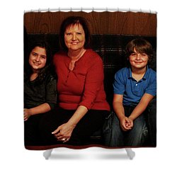 Shower Curtain featuring the photograph Mamma And Kids by Gene Gregory