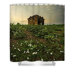Shower Curtain featuring the photograph Mammatus And Flowers  by Aaron J Groen