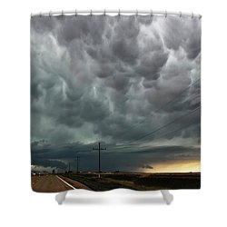 Mammatus Over Montata Shower Curtain by Ryan Crouse