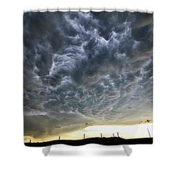 Mammatus Over Nebraska Shower Curtain