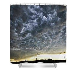 Mammatus Over Nebraska Shower Curtain