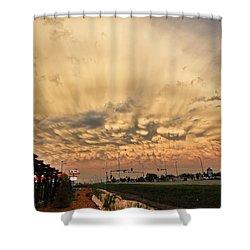 Mammatus Over Yorkton Sk Shower Curtain