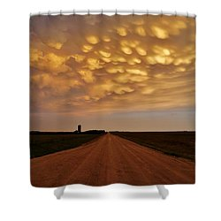 Shower Curtain featuring the photograph Mammatus Road by Ed Sweeney