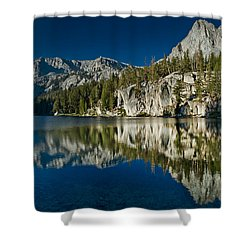 Mammoth Lakes Reflections Shower Curtain