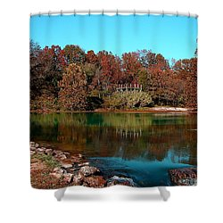 Mammoth Springs Shower Curtain by Rick Friedle