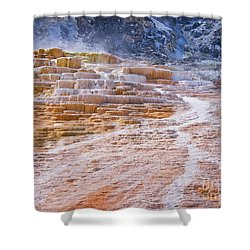 Mammoth Terraces Of Yellowstone Shower Curtain