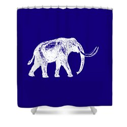 Mammoth White Ink Tee Shower Curtain