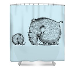 Mammothz Shower Curtain by Andy Catling