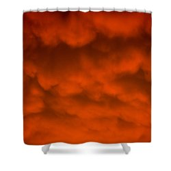 Mammutus Clouds Sunset Shower Curtain by Bruce Pritchett